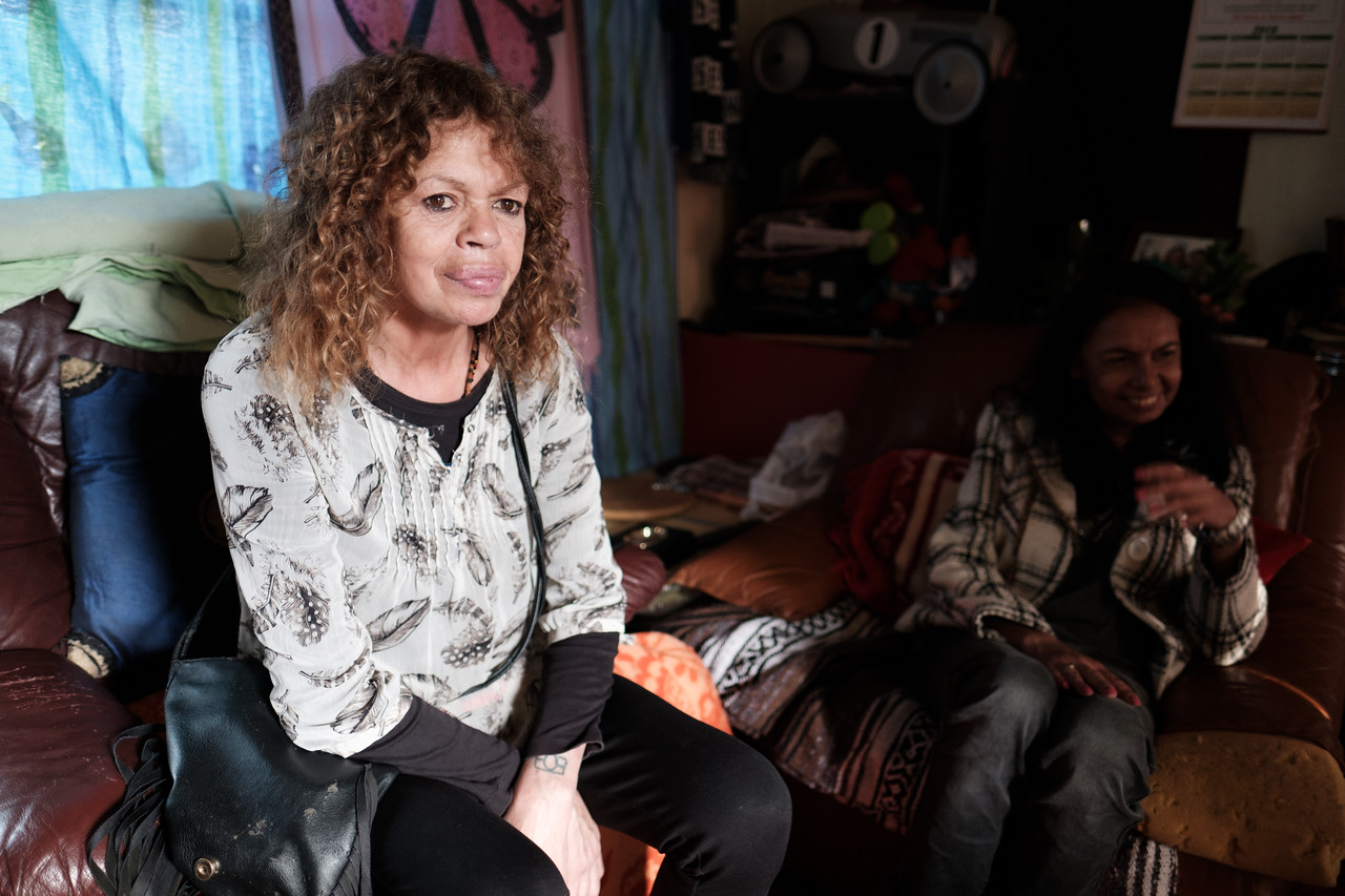 Two Aboriginal Women at Home