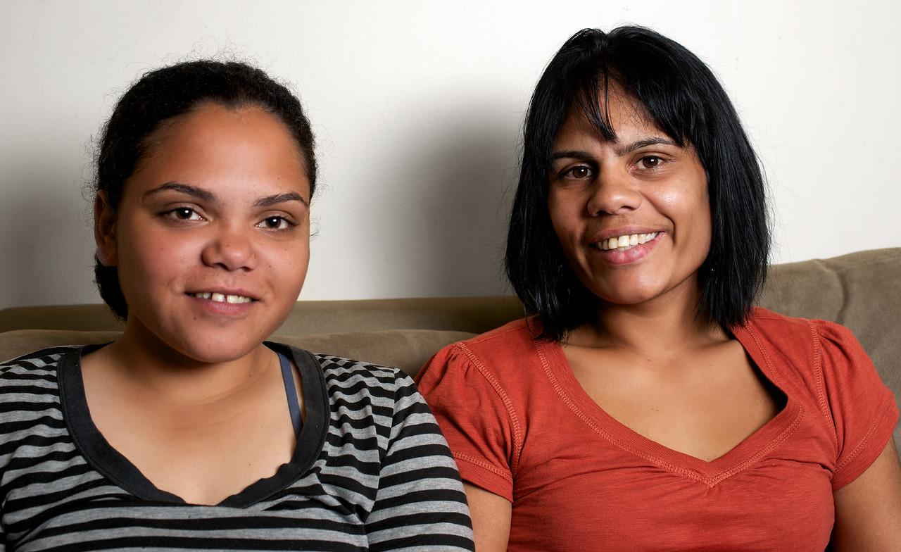 Two Indigenous Australian Women on a Couch
