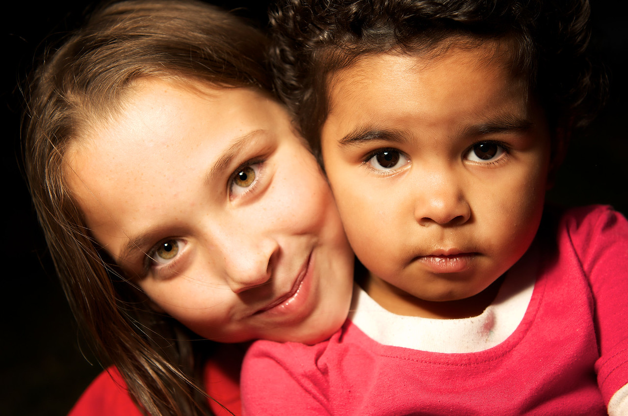 Aboriginal Australian Toddler and a Caucasian Girl