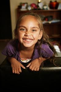 Aboriginal Australian Girl of Five Years smiling