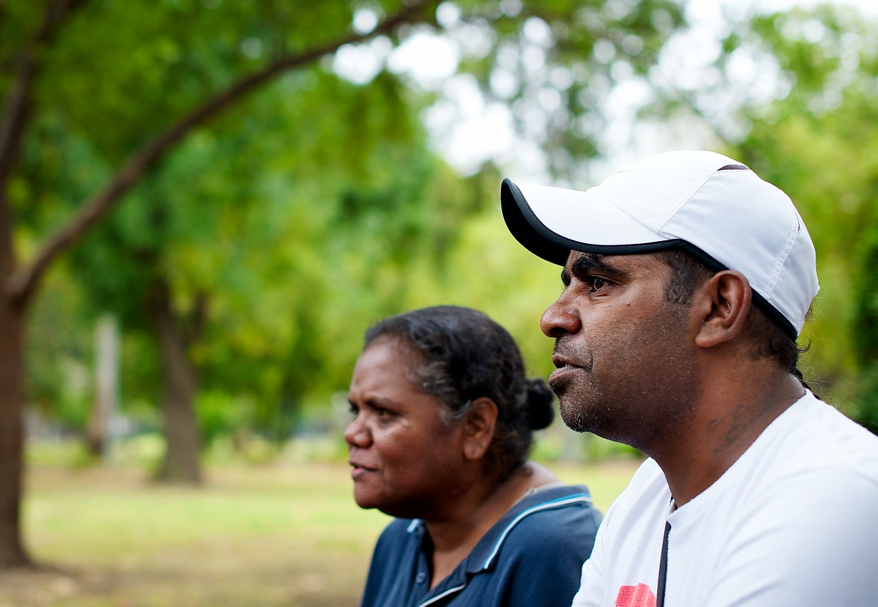 Aboriginal Man in his 30s with a Woman