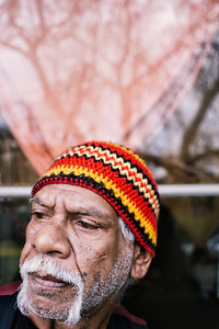 Wurundjeri Elder in Front of a Window