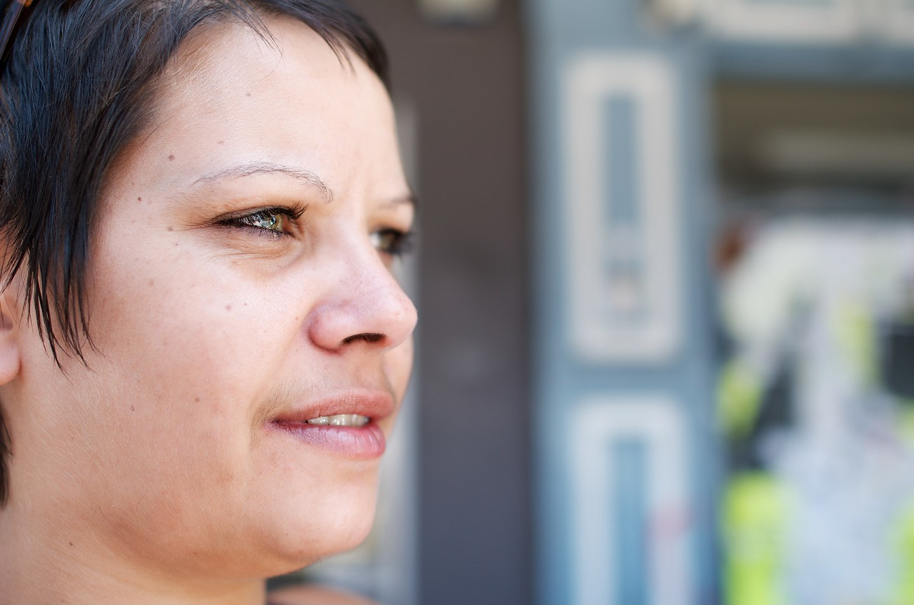 Proud Aboriginal Woman in Profile