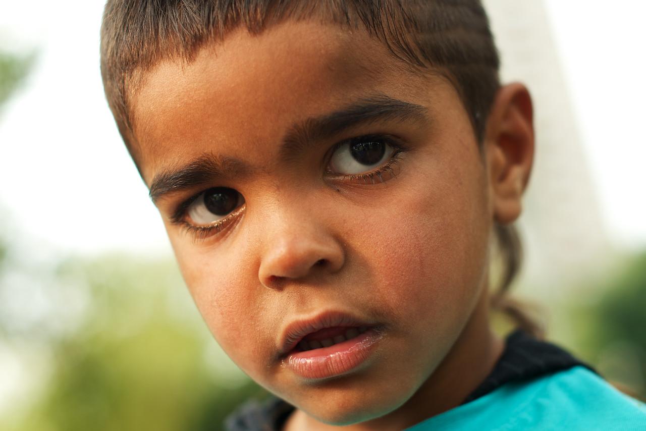 Close up of an Aboriginal Boy