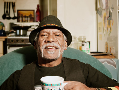 Indigenous Australian having a Cup of Tea at Home
