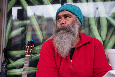 Indigenous Australian Man with a Red Top