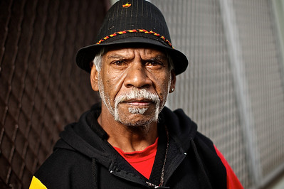 Wurundjeri Elder Standing at a Front Doorway