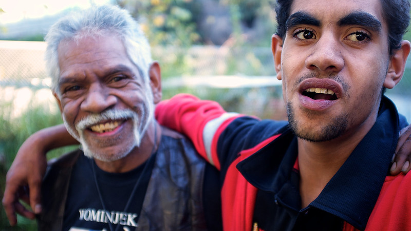 18 year old Indigenous Australian with his Father