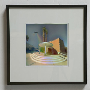 "ARTIST ROBERT DUNAHAY AND PHOTOGRAPHER ARTHUR COLEMAN  'MID-CENTURY "" SIGHTING      PALM SPRINGS CITY HALL"