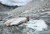 Recently moved massive glacier table on Penny Royal Glacier in Hatcher Pass area