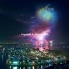 Dana Point Aerial 16, Fireworks over harbor