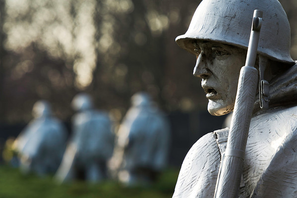 """""""Korean War Memorial"""" - Washington, D.C.   Recommended Print sizes*:  4x6      8x12     12x18     16x24     20x30     24x36 *When ordering other sizes make sure to adjust the cropping at checkout*  © JP Diroll 2014"""