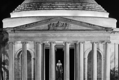 """""""We Hold These Truths"""" - Jefferson Memorial, Washington, D.C.   Recommended Print sizes*:  4x6      8x12     12x18     16x24     20x30     24x36 *When ordering other sizes make sure to adjust the cropping at checkout*  © JP Diroll 2014"""