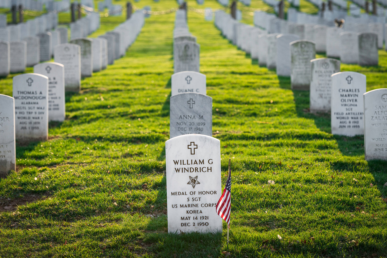 """""""William Windrich"""" - Arlington National Cemetery, Washington, D.C.   Recommended Print sizes*:  4x6      8x12     12x18     16x24     20x30     24x36 *When ordering other sizes make sure to adjust the cropping at checkout*  © JP Diroll 2014"""