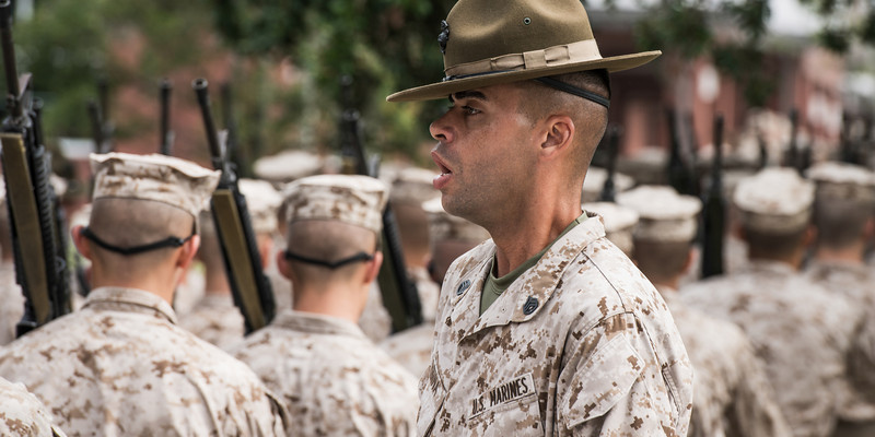"""D.I."" - USMC Recruit Depot, Parris Island   Recommended Print sizes*:  4x8  