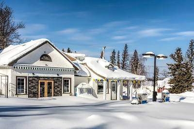 Gas Station in Winter