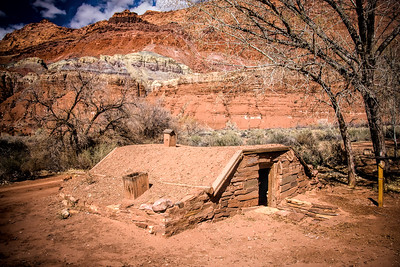 Old Building at Lonely Dell Ranch Historic Site, Arizona