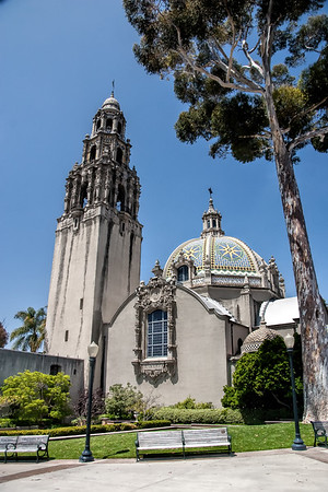 Famous  tower at Balboa Park