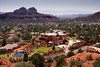 Sedona mansion and city landscape