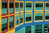 Windows resemble colorful Building Blocks