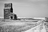 Prairie Grain Elevator on the Canadian landscape