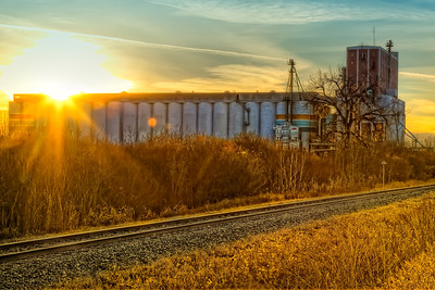 Grain Terminal at Sunset