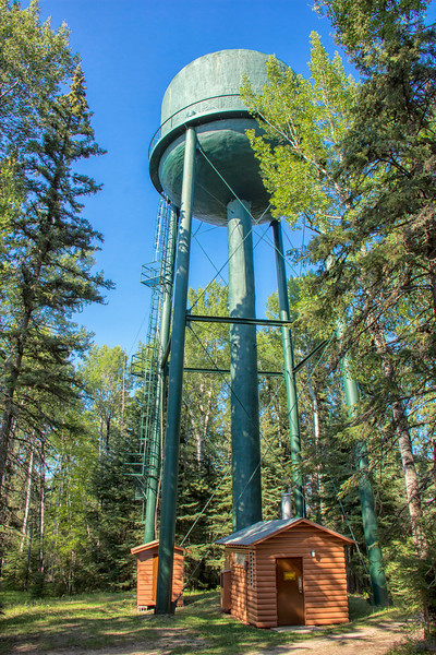 Water Tower in the Forest