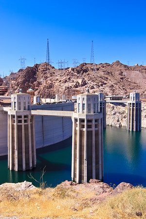 Hoover Dam and Water Intake Towers