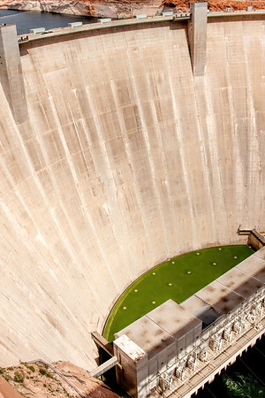 Glen Canyon Dam near Page, Arizona.