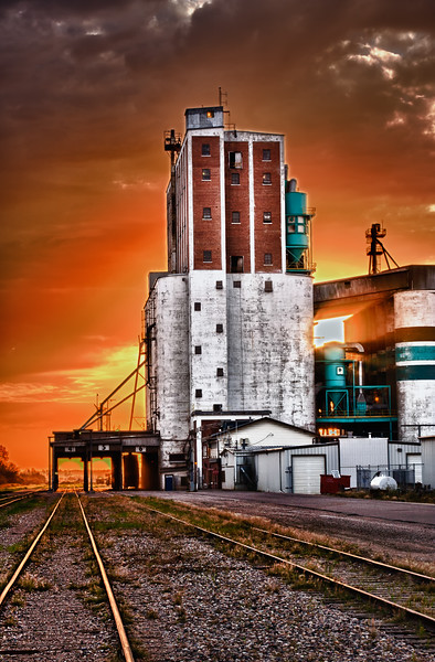 Grain Terminal at Sunrise