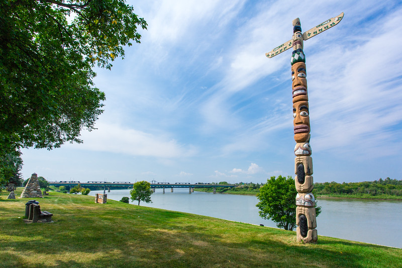 Totem Pole along River