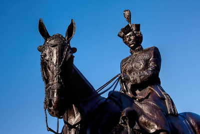 Statue of Queen Elizabeth II riding Burmese