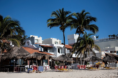 Beachfront Resorts at Playa del Carmen, Mexico