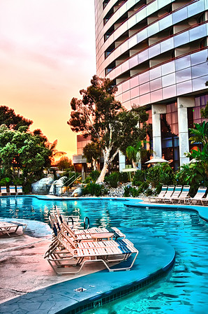 Pool and resort at Sunset