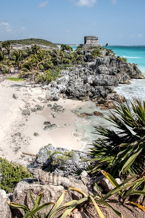 Tulum Temple down the Beach