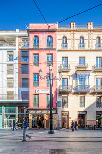 Facades, Avenida de la Constitucion street, Seville, Spain