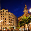 Plaza Nueva at night, Seville, Spain