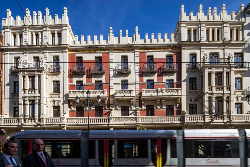 Art Nouveau building on Constitution Avenue, Seville, Spain