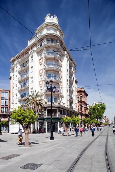 Apartment building on Avenida de la Constitucion, Seville, Spain