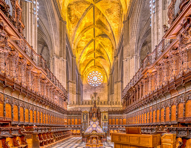 Choir, Cathedral of Seville, Spain.