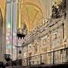 Rear side of the choir, Santa Maria de la Sede Cathedral, Seville, Spain