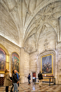 Sacristy of the Chalices, with a painting by Goya (right), Santa Maria de la Sede Cathedral, Seville, Spain