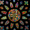 Detail of a Gothic rose window, Santa Maria de la Sede Cathedral, Seville, Spain