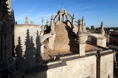 Dome on the roof of Santa Maria de la Sede Cathedral, Seville, Spain