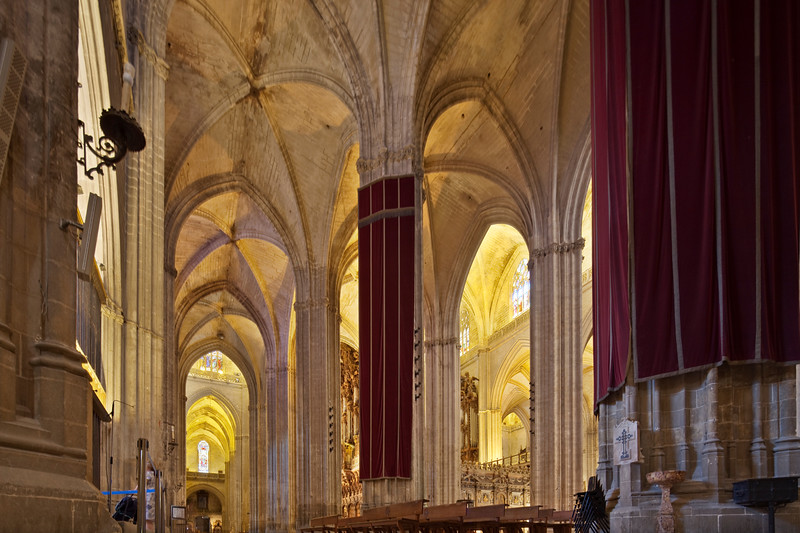 Interior of Santa Maria de la Sede Cathedral, Seville, Spain