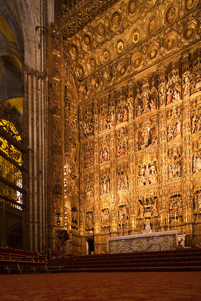 High altar, Santa Maria de la Sede Cathedral, Seville, Spain