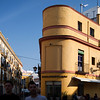 Rounded building near Alameda de Hercules, Seville, Spain