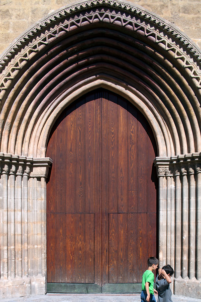 Door of Santa Marina church (13th century), Seville, Spain