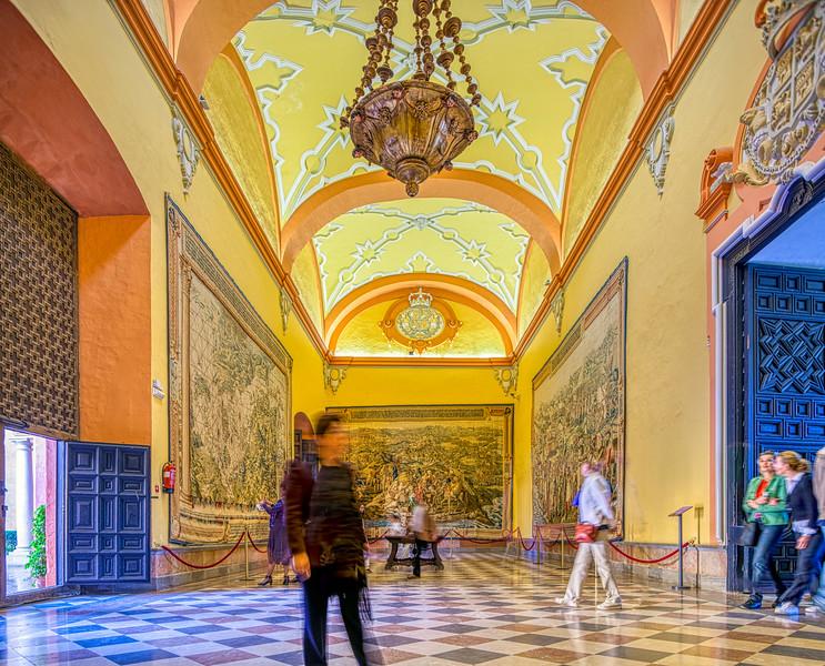 Salón de los Tapices (Tapestries' Room), Real Alcazarr, Seville, Spain
