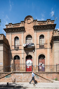 Former San Bernardo public school, building occupied by squatters, Seville, Spain